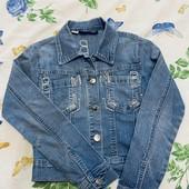 Джинсовый пиджак девочке со стразами !!!