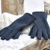 ☘ Теплі в'язані рукавички з флісу від Tchibo (Німеччина), розмір 9,5