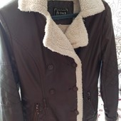 Деми сезонна куртка на овчині розмір 44-46