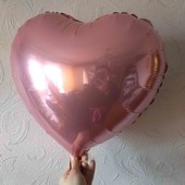 """фильтрованный шар """"Сердце"""" 45 см  2 шт в лоте"""