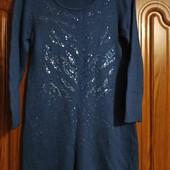Теплая туника, платье, в составе 18%ангоры