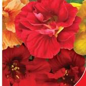Настурция махровая Драгоценность. Семена. Цветы огромные до 12 см в диаметре.