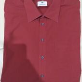 новая мужская рубашка Kingfield р.45 55% коттон+45%полиэстр (сток на дефекты проверено)