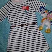 Бомбезное фирменное платьице на весну,на девочку 6-8 лет
