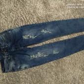 Люкс! мега стильные джинсы на рост 160 см 13/14 лет отличного сост