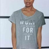 crivit.вискозная футболка с принтом размер  L44/46+6замеры