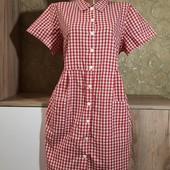 Собираем лоты!!платье в клетку, размер 44