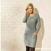 esmara.платье туника тонкой вязки с карманами  S36/38+6