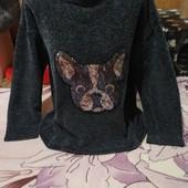 Шикарный тёмно серый с поедками тёплый стречь свитерок. Jean Pascale.xl,xxl,3xl.Смотрите лотов много
