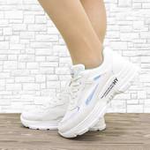 Женские кроссовки Bites белые с мятным. 24 см