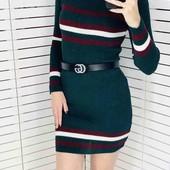 Новое Платье -гольф рубчик.Отлично тянется. Размер 42/44 Длина 90см