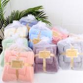 Набор великолелепных, супер впитывающих полотенец в подарочной упаковке. Баня 140*70 + 35*75 см лицо