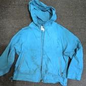 Ветровка женская б\у 52 размер цвет синий