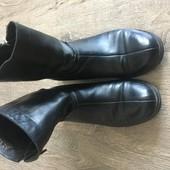 Кожаные демисезонные ботинки сапожки 40 размер