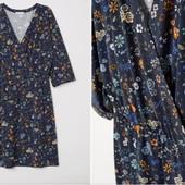 Платье в цветочный принт с запАхом,XL,54/56/58 р.