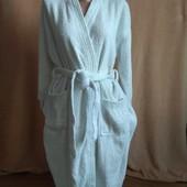 Махровий пухнастий халат 100% хлопок М/Л дивіться заміри