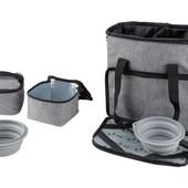 Отличная, удобная сумка, для собачьих принадлежностей, с карманами и мисками Zoofari