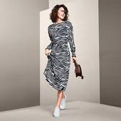 Платье миди в дизайне зебры от Tchibo (Германия), р.36 евро, на наш 42/44