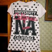 Качество! Натуральная футболка/туничка от Happy House + белая футболка в подарок, новое состояние