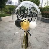 Воздушный силиконовый шар Bubbles, 45х45 см, в лоте 1 шт, подробно в описании!