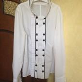 Котоновая стильная рубашка, S.. Можно подростку на учебу