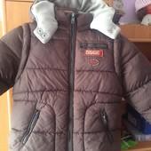 Куртка, жилет, зима, внутри флис, размер 5 лет 110 см, Oka ou. состояние хорошее
