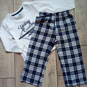 Мягенькая хлопковая пижама, низ фланелевый Lupilu, размер 86/92