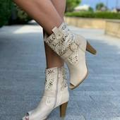 Последний размер!! Сапожки туфли, полномерные