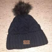 Последняя)))Брендовая шапка UGG натуральный мех.... качество бомба