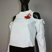 Качество! Стиьная натуральная блуза/вышивка Szachownica, в новом состоянии