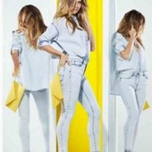 Котоновая рубашка оверсайз Esmara с коллекции Heidi Klum S evro 38+6