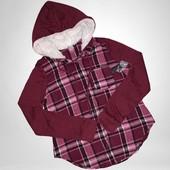 Весна!Модная комбинированная рубашка фланель фирма no bo размер на выбор!