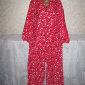 Тёплая байковая большая пижама 16р., Tu, 100% коттон