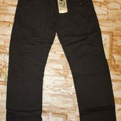Модные котоновые брюки на трикотажной подкладе glo-story140-146 р. В лоте фото 1