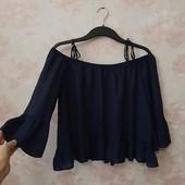 Красивая блуза с открытыми плечами , приятная вискоза! УП скидка 10%