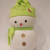 Сніговик 30 см європейська якість за приємну ціну