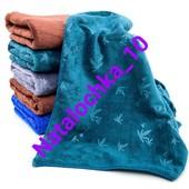 Банное полотенце Листочки бамбука, 140*70см (микрофибра), лот 1шт. Турция. Отличного качества!