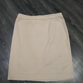 N-20. Стильная котоновая юбочка бежевого цвета