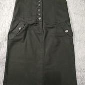 N-23. Стильная джинсовая юбочка, с завышенной талией под груди