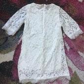 Гипюровое платье в состоянии нового без дефектов. Смотрим замеры.