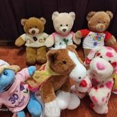 Build a bear workshop! Мягкие красивые мишки, Смурфетта, лошадка и собачка