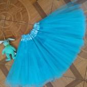 Пышная 4-х слойная фатиновая юбка для девочки от 2 до 8 лет. Новая!