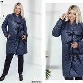 Шикарное пальто куртка пуховик большой размер, легусенький