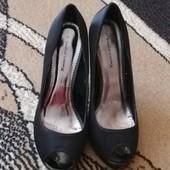Женские туфли с открытым передком (атлас) 38 Emilio Lucax
