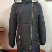 Классная теплая женская куртка-пальто. Размер 12. Смотрите и другие мои лоты