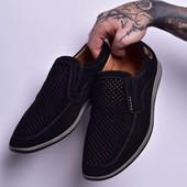 Мужские туфли-мокасины