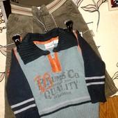 ☆Фирменные вещи☆УП-10%Штанишки +свитер до 1 года