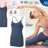 Майка спортивная для йоги Crivit, р.S 36/38 евро, цвет джинс