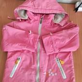 Курточка на рост 92,на флисе осень-весна сост.отличное