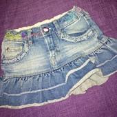 Джинсовая юбка для девочки 1,5 - 2 года hello kitty размер 92 см
